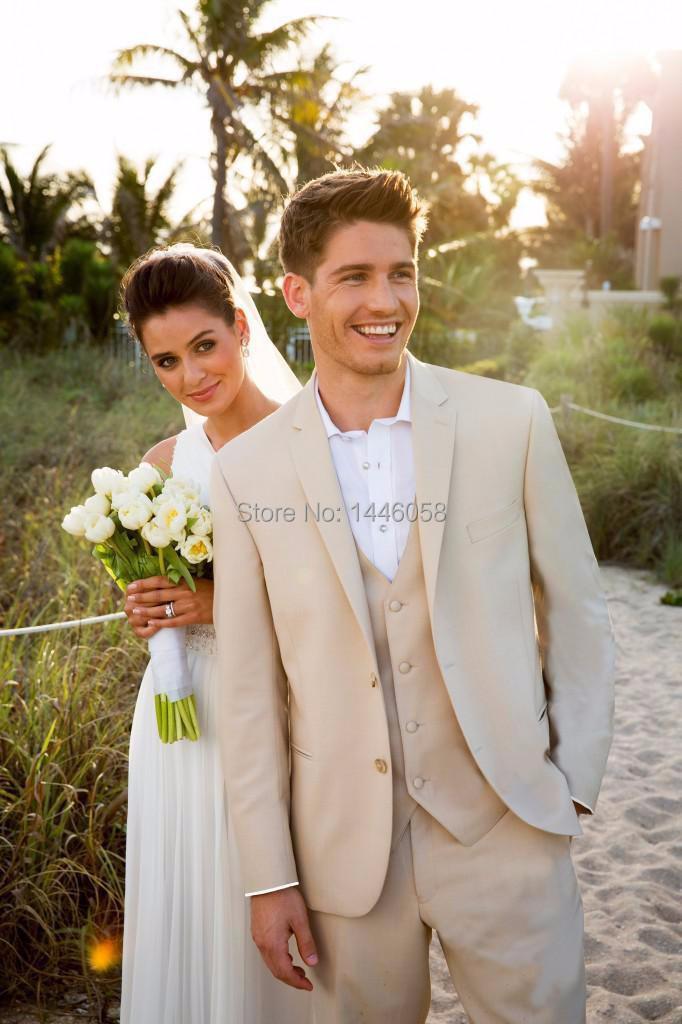 compra traje de boda del novio de color beige online al. Black Bedroom Furniture Sets. Home Design Ideas
