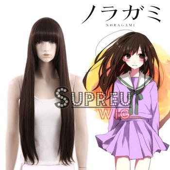 Noragami / Stray God Hiyori Iki Long Dark Brown Anime Cosplay Hair Wig