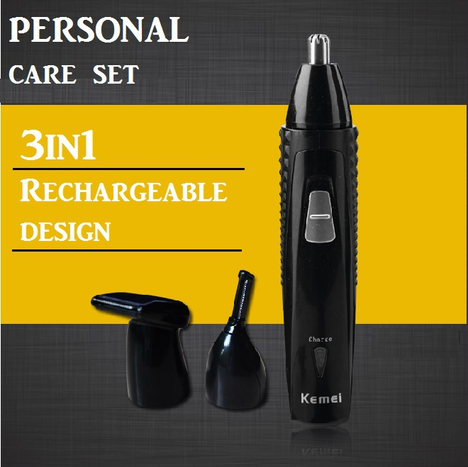 3in1 Rechargeable nose trimmer for nose trimer electric ear cleaner hair removal led nose hair cutter for Temple Eyebrow trimmer(China (Mainland))