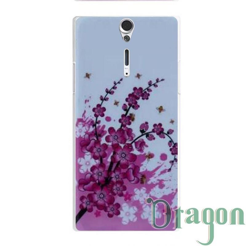 For Sony Xperia S LT26i SL LT26ii 1pcs Flower zebra Dog Aztec camo Minions Colored Paiting Hard back case skin cover LT26(China (Mainland))