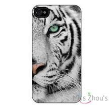 For iphone 4/4s 5/5s 5c SE 6/6s plus ipod touch 4/5/6 back skins mobile cellphone cases cover White Tiger
