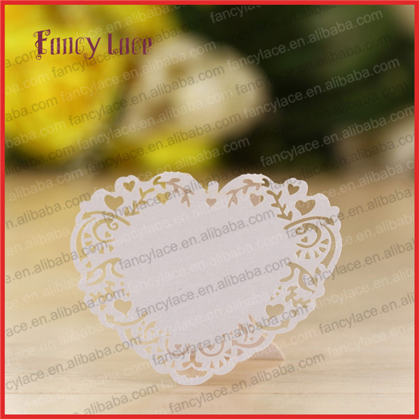 50pcs new design laser cut wedding invitation table for Decoration table pour invites