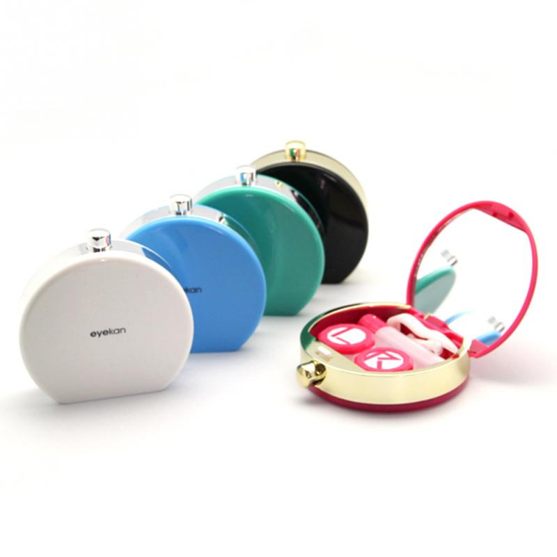 Comercio al por mayor 1 unid moda de alta calidad de la caja de lentes de Contacto caso de lentes de contacto gafas accesorios 5 Colores