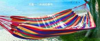 2015 High quality double outdoor indoor recreational sports color canvas hammock swing