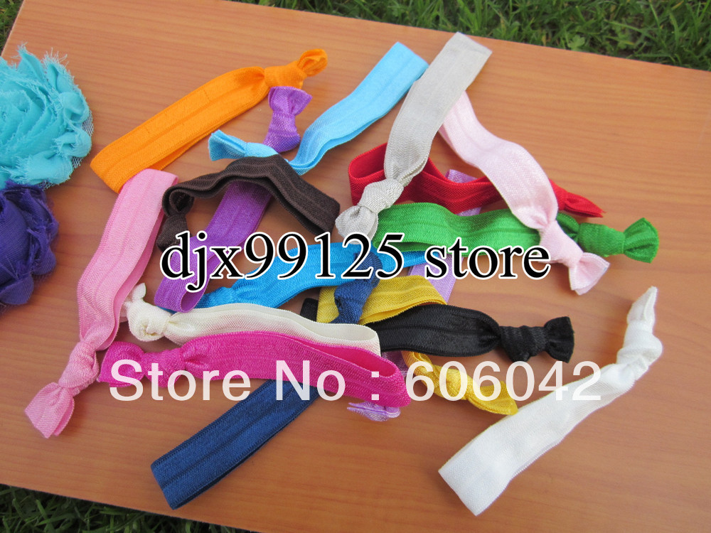 Interchangeable Headbands Elastic Hair Tie Ponytail Holders Bracelets 50pcs/lot Free Shipping(China (Mainland))