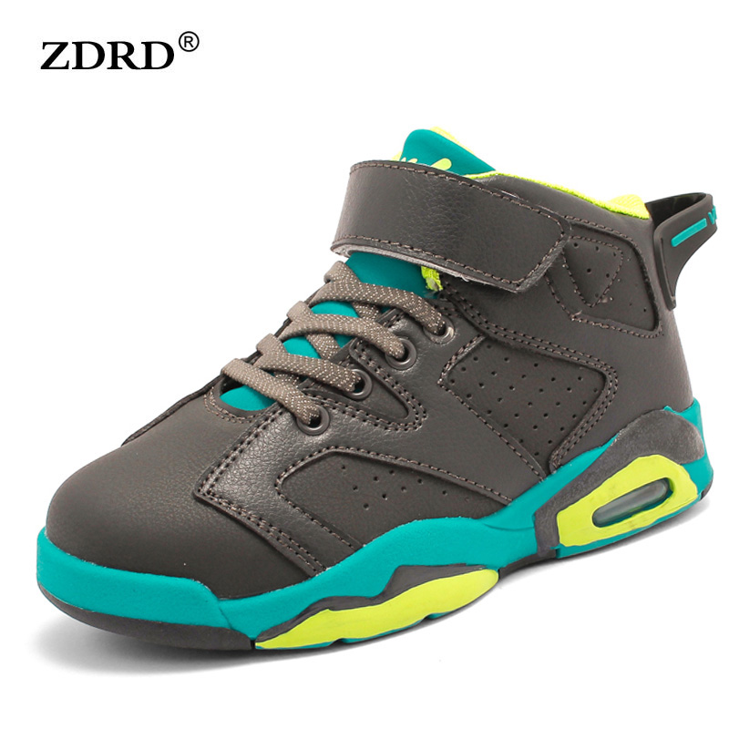 2016 New Children Fashion Sneakers PU Leather Kids' Sports Shoes Lace-up Breathable Boys Girls Running Shoes(China (Mainland))