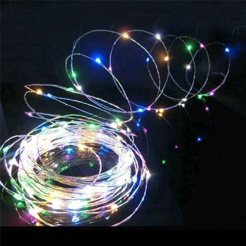 5m Copper Wire LED String Lights 50 Led Starry Flashing Lights For Holiday wedding party ...