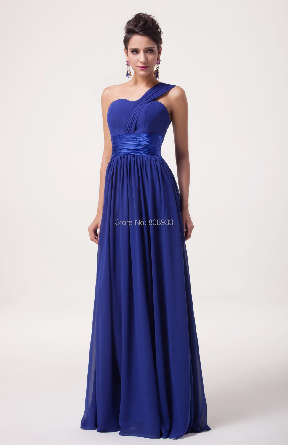 Blue long sleeve prom dress quotes for Royal blue wedding dresses cheap