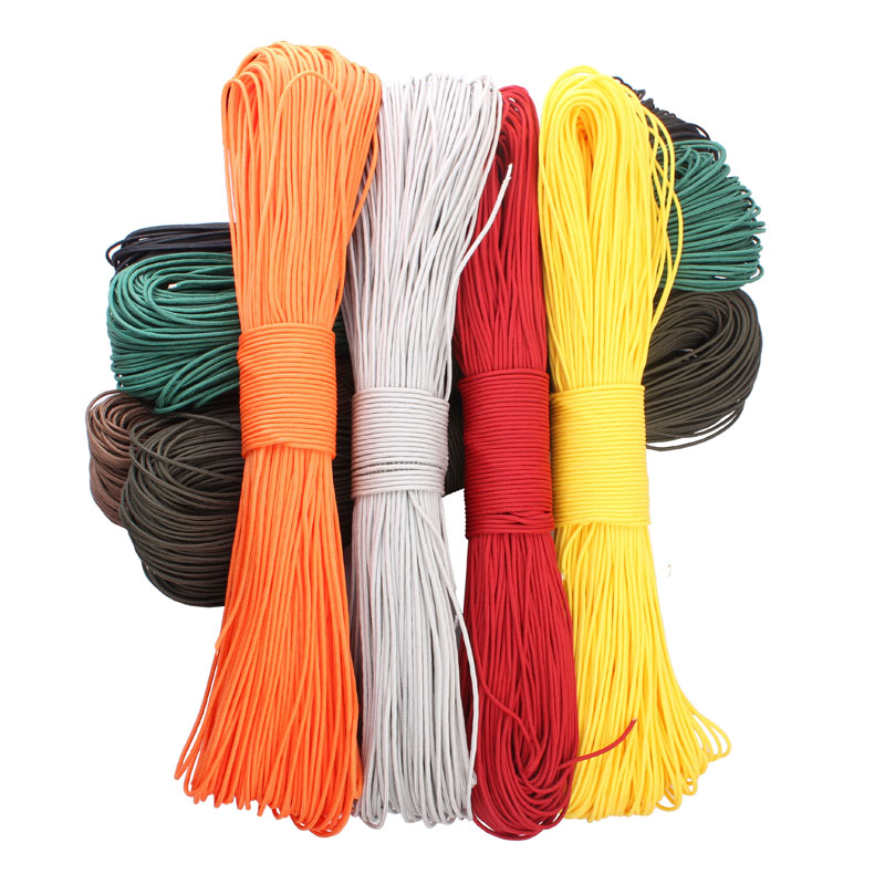 50 Meters Dia. 2mm one stand Cores Paracord Survival Parachute Cord Lanyard Camping Climbing Rope Hiking Clothesline - Oversky Co.,Ltd store
