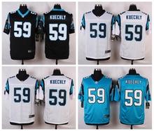 Carolina Panthers #59 Luke Kuechly Elite White Blue Alternate and Black Team Color free shipping(China (Mainland))