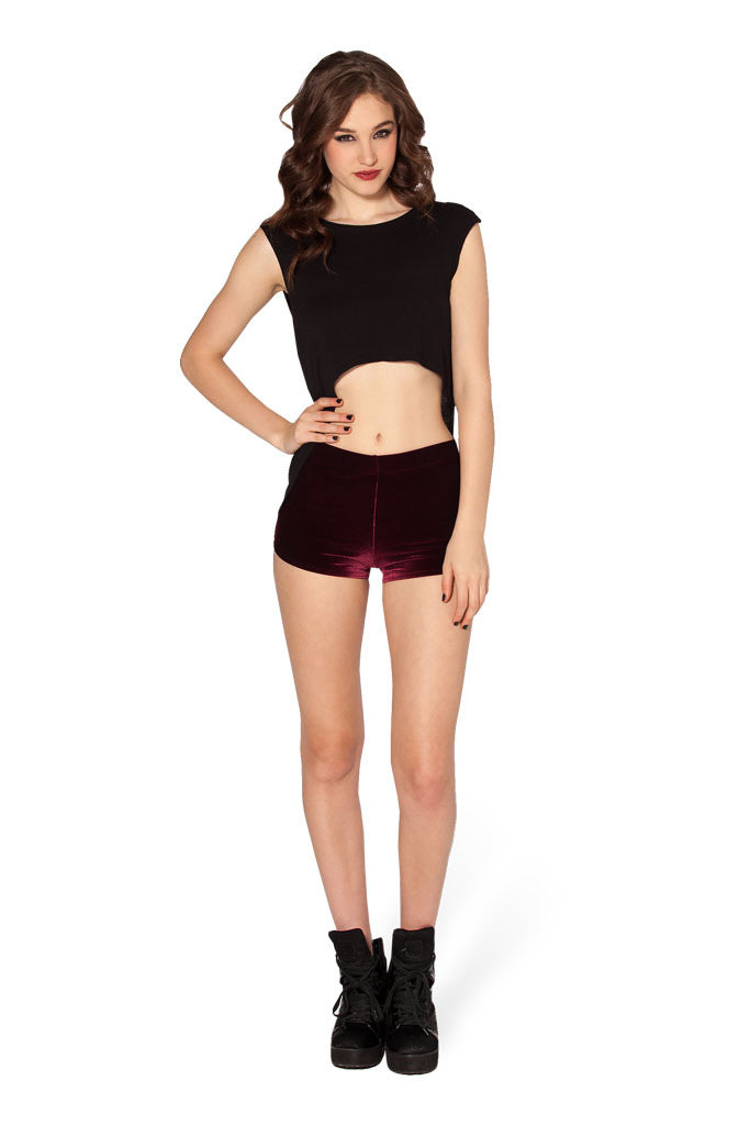 Softly Skinny High Velvet shorts for women 3 colors in free shipping-in Shorts from Womenu0026#39;s ...
