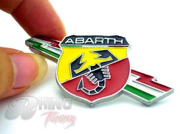 Classic ABARTH Shield Shaped Badge Sticker Car Tailgate Rear Emblem for FIAT TC Boano Simca Berlinetta Alfa Romeo 698