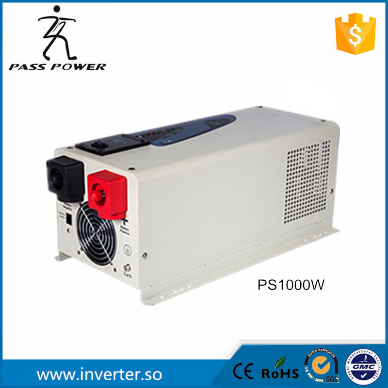 UPS system LCD display 50Hz 12v/24v 1000w dc to ac inverter charger inverter pure sine wave low frequency inverter(China (Mainland))
