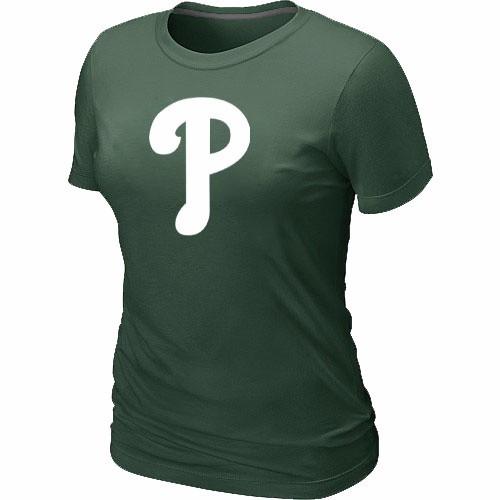 MLB Philadelphia Phillies Heathered D.Green Women's Nike Blended T-Shirt