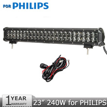 240W 23 inch LED Light Bar Offroad for PHILIPS