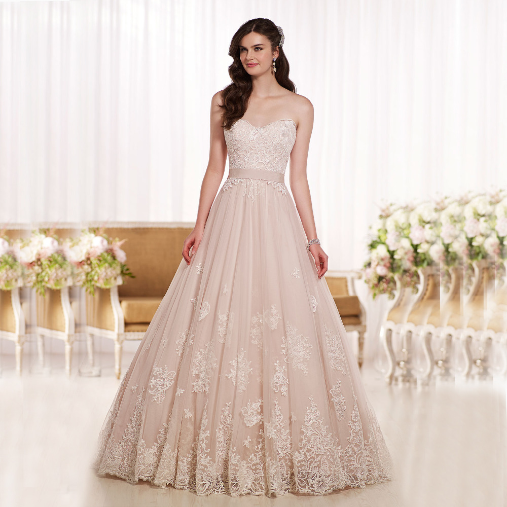 Popular champagne colored wedding dresses cheap buy cheap for Cheap champagne wedding dresses