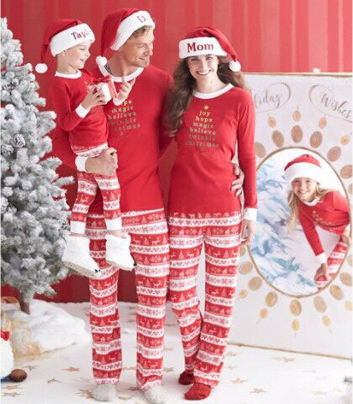 Christmas Pajamas Family Matching Clothes Kids Costumes New Years Mother And Daughter Stes Baby Girl Clothing Father Son Outfits(China (Mainland))