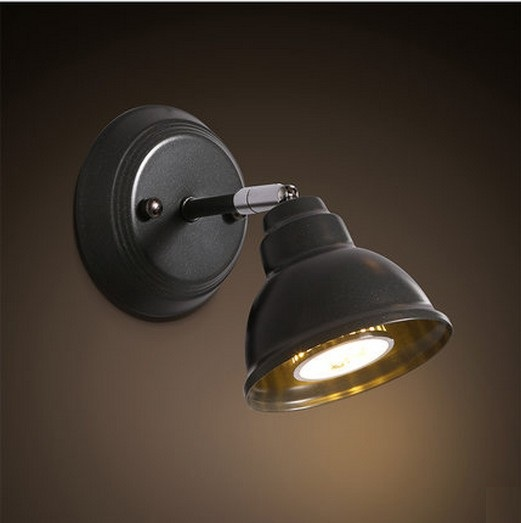 Фотография Retro Loft Style Iron LED Wall Light Fixtures Multi Angle Rotation Wall Sconce For Bedside Wall Lamp Home Lighting Lamparas