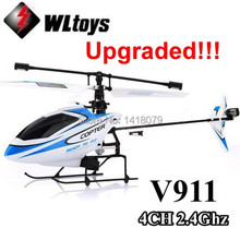 Wholesale Upgraded Version WLtoys V911 2.4Ghz 4CH Single Blade Propellor Gyro Mini Radio RC Helicopter BNF(China (Mainland))
