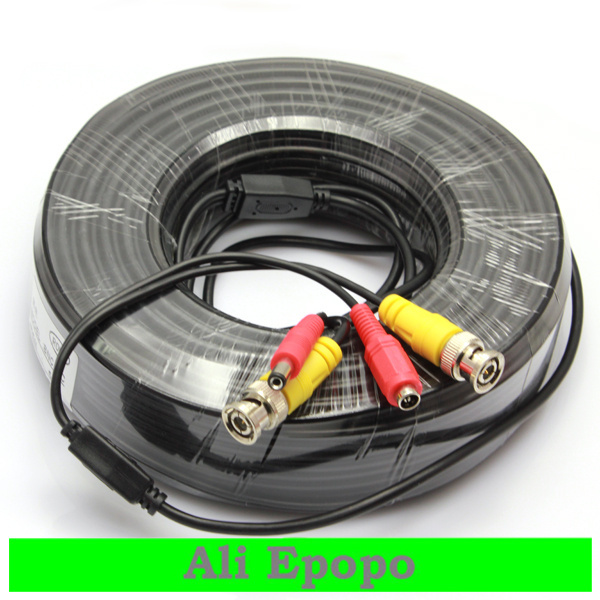 50M BNC Power Video Output Cable for CCTV Camera Surveillance System, FREE SHIPING<br><br>Aliexpress