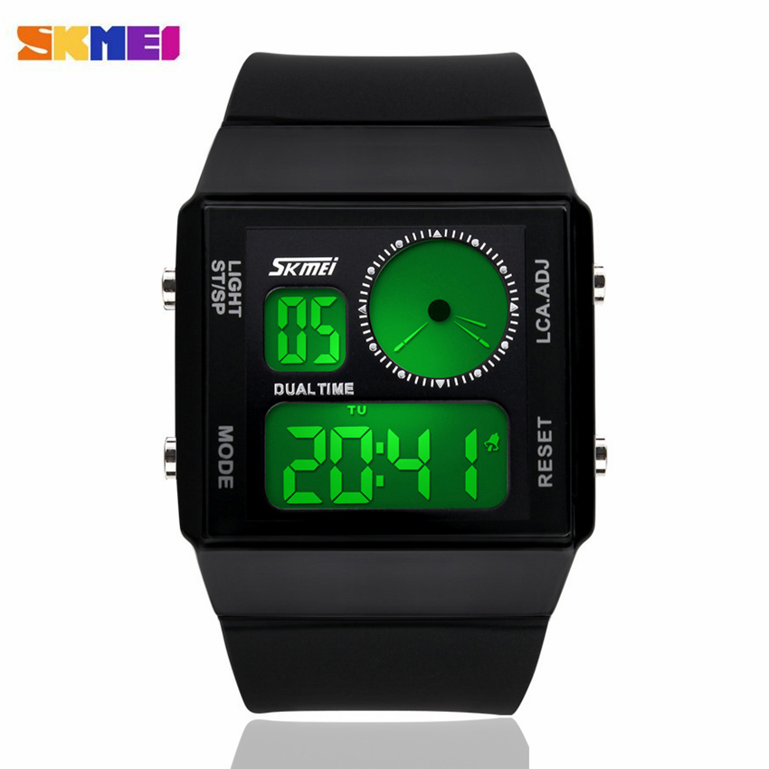 SKMEI Brand LED Display Relogio Feminino New Fashion Jelly Watches Women Casual Reloj Mujer Sports Multifunctional Watch Hombre(China (Mainland))