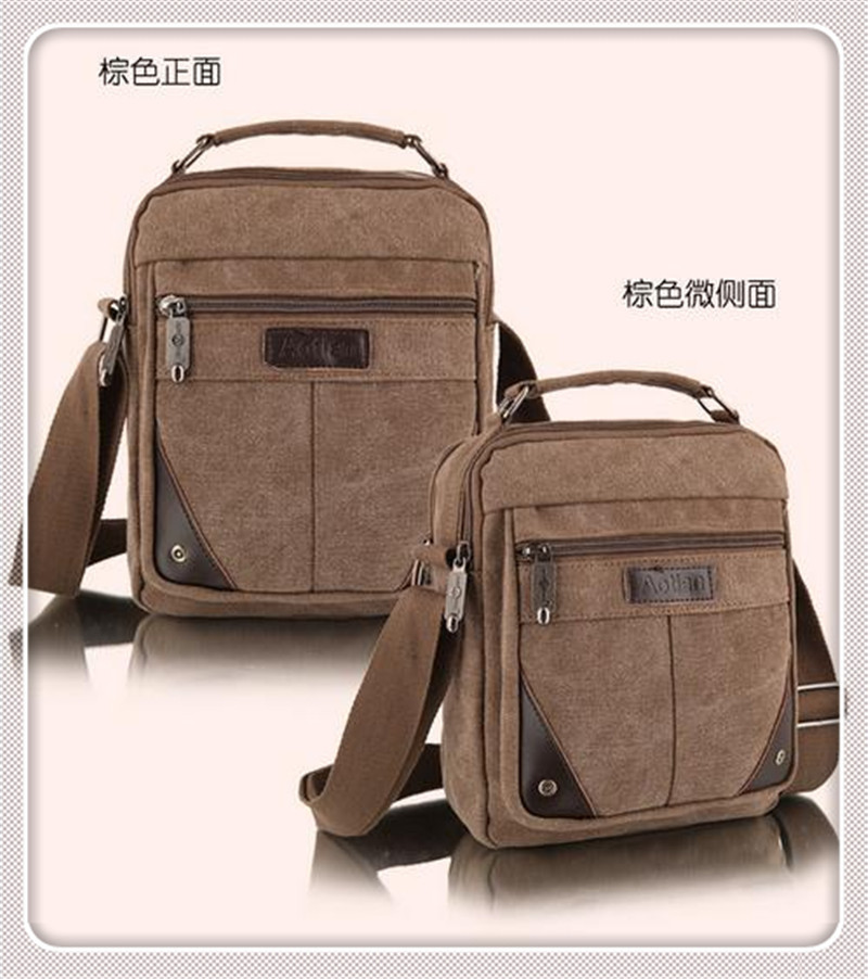 2014 New Men Messenger Bags Casual Multifunction Travel Man outdoor Canvas Shoulder Handbags - Coral Island store