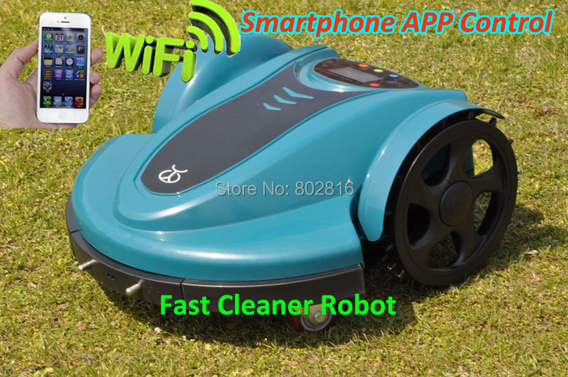 Free Shipping SmartPhone APP Wifi Control 2015 Newest Robot Lawn Mower With Lead-acid battery,Password,Schedule,Subarea Setting(China (Mainland))