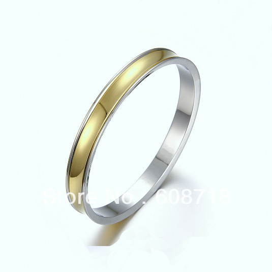 Italy Most Celebrated Bracelet Bangle,In Shiny Steel And Yellow Gold,Women Cool Summer Jewelry,Exquisite Bracelet Drop Shipping(China (Mainland))