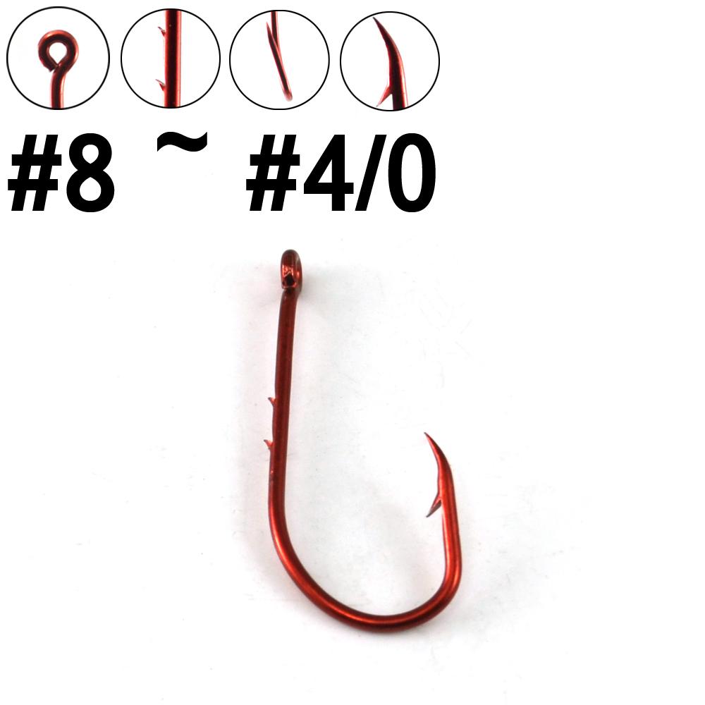Color Bait Holder Hook Long Shank Baitholder Chemical Sharpened Worm