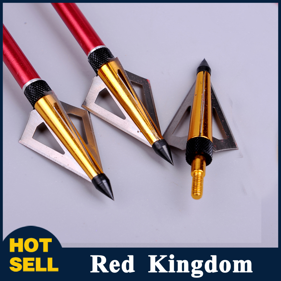 3pcs lot Hunting Crossbow Arrow Broadhead 125Grain with 3 Fixed Blades Archery Bow And Arrow Point