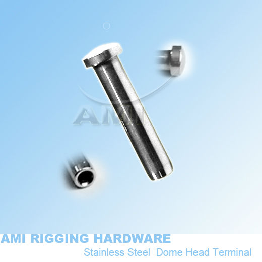 6mm wire*52mm, T09-06-01,Dome head terminal tensioner, stainless steel 316 marine boat hardware rigging wire rope end fitting(China (Mainland))