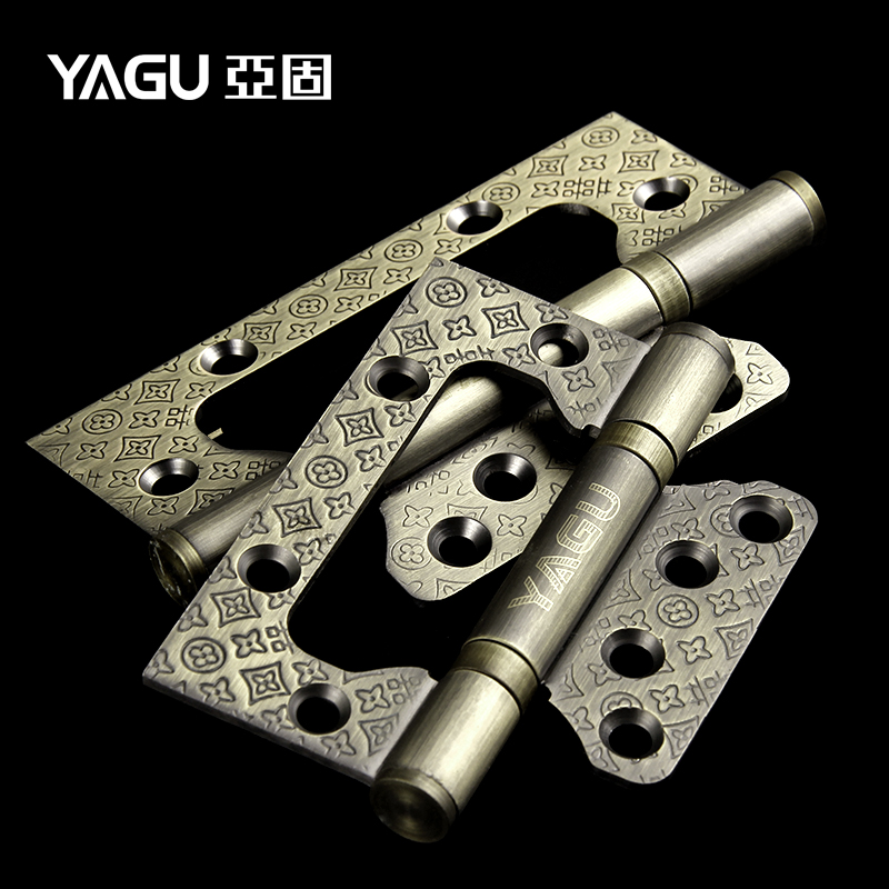 [solid] sub zinc alloy 3mm thick 4 inch Wacao mute bearing free embossed door hinges(China (Mainland))