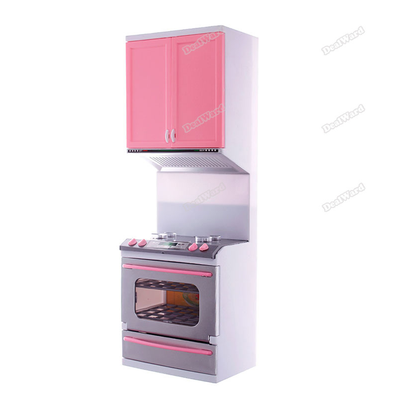 dealward Limited Sales! Kids Children Kitchen Pretend Play Cook Cooking Cabinet Stove Cookware Toy Set Top grade(China (Mainland))