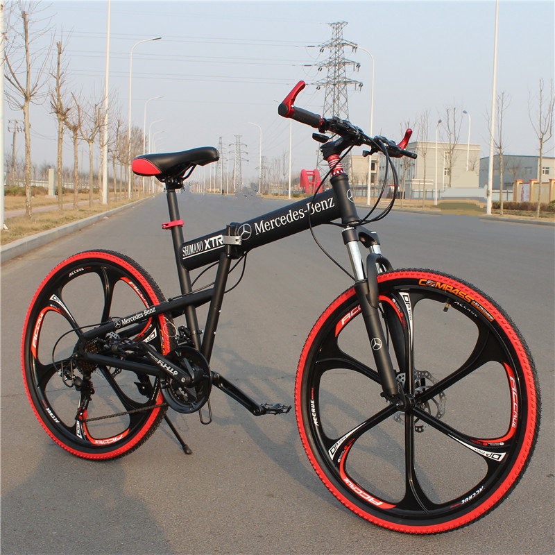 New Arrival 26 Inch 24Speed Mountain Bicycle Carbon Steel One Wheel Complete Folding Bicycle Road Bike(China (Mainland))