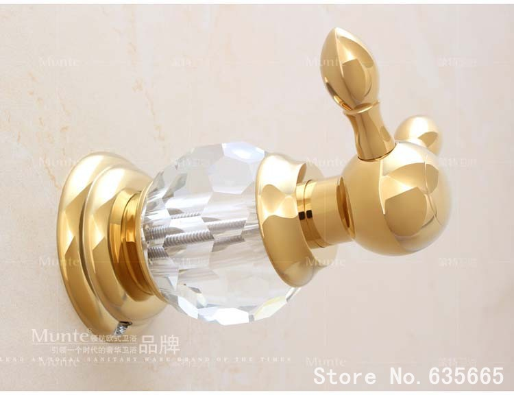 Crystal Decoration Robe Hook Kitchen Door Rear Coat Clothes Hooks Fitting Hotel Bathroom Sanitary Hardware Hanger Accessories(China (Mainland))