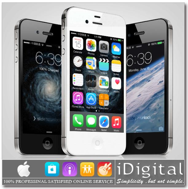 "Original Apple iPhone 4S Unlocked Cell Phone 16GB/32GB IOS 8 3.5"" 1080P Dual Core 8MP WIFI GPS 3G WCDMA Smartphone Refurbished(China (Mainland))"