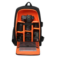 Multi-functional Waterproof Digital DSLR Photo Padded Backpack w/ Rain Cover Camera Soft Bag laptop Video Case for Photographer(China (Mainland))