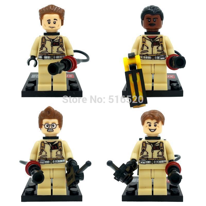 XINH 108-111 Ghostbusters Army Minifigures 4pcs/lot Building Blocks Sets Model Bricks Toys For Children No Original Box(China (Mainland))