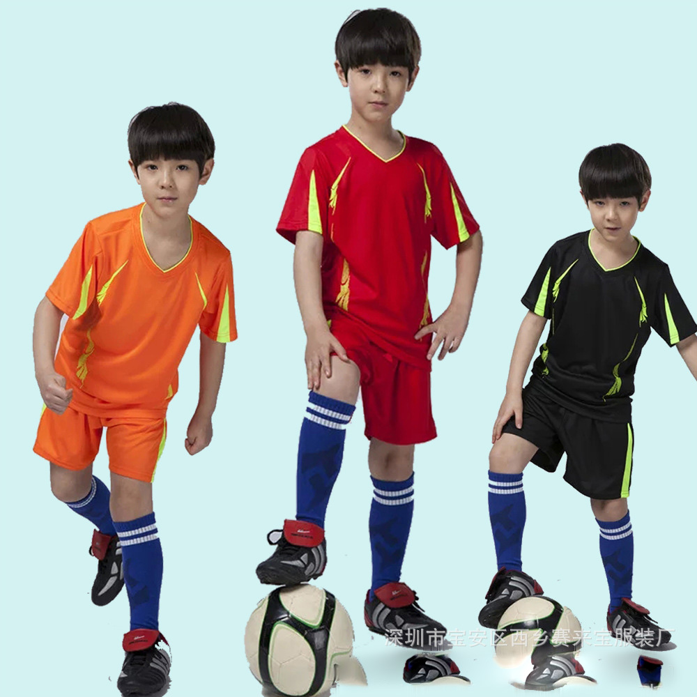 Kids Boys Soccer Jerseys Kits 2016 Kid Football Training Jersey Suit Child Breathable Soccer Tracksuit Football Jersey KC160608(China (Mainland))