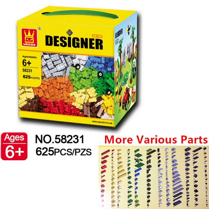 Original WANGE Brand Small Building Blocks 625pcs More Various Accessories Compatible with Lego Bricks Educational Toys(China (Mainland))