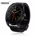 Metal Round K9 Smart Watch MTK2502C Support Heart Rate Monitor Wake Up Gesture With Changeable Strap