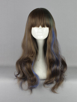 60cm Long Loose Wave Colorful Lolita Wig With Bangs