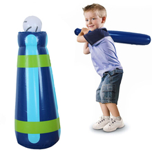 62cm Inflatable baseball tumbler early childhood educational toys Children's boxing sandbag tumbler Baseball outdoor sports(China (Mainland))