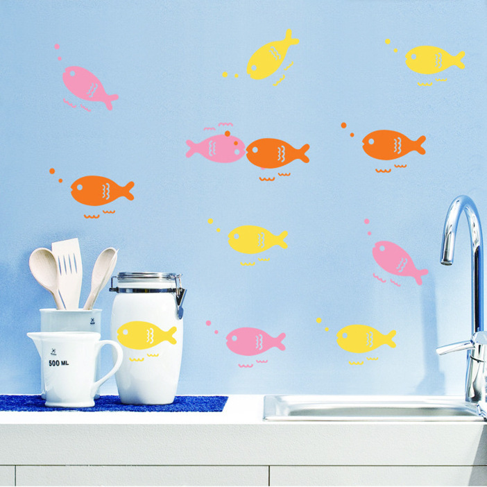 Cartoon Fish Removable Children Bedroom Living Room Sofa TV Bathroom
