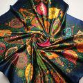 90cm 90cm Silk Scarf 2016 New Spring Brand Women Silk Scarf Women Luxury Fashion Letter Scarf