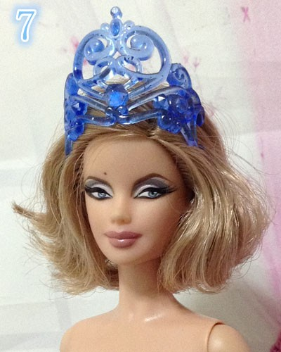 Free Delivery 2016 new wholesale 50pcs/lot Necklace Crowns heads equipment For Barbie Doll,doll equipment for barbie