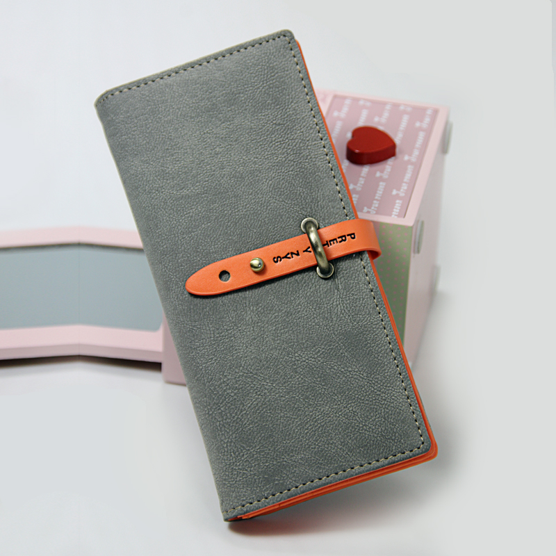 Vintage 2013 scrub small change folder long design multi women's card holder wallet female(China (Mainland))