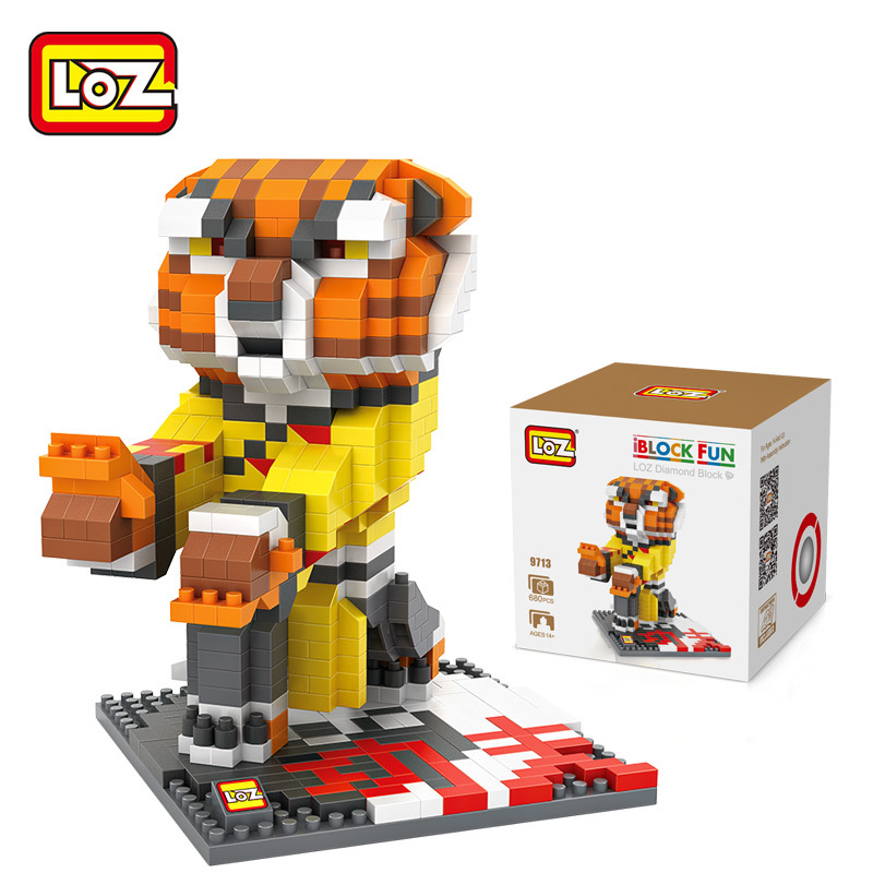 LOZ mini blocks Kungfu Panda DIY Building Blocks Figure toys Tiger Monkey Movie Character Figures for gift free shipping