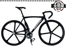 Complete Fixed Gear Bike, Cool Black  Aluminium alloy Frame( 52cm) with 11 Style  Wheel (700X23C) Avialable,Can Ride Forwards(China (Mainland))