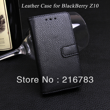 20Pcs/Lot  High Quality Wallet Smart Magnetic Flip  PU Leather Cover Case for BlackBerry Z 10 with Card Holder Free Shipping
